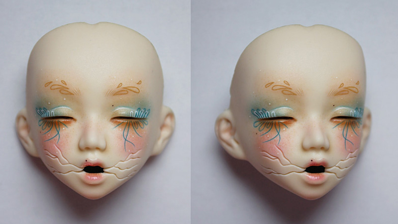 Sculpture et peinture sur résine et vinyl, Céline Citronrouge